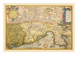 Map of Southern Europe Wall Decal by Abraham Ortelius