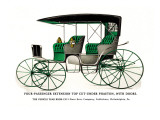 Four Passenger Extension Top Cut-Under Phaeton with Doors Wall Decal
