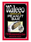 Waleco Chocolate Peanut Bar Wall Decal