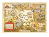 Map of Russia Wall Decal by Abraham Ortelius