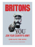 Britons: Join Your Country's Army Wall Decal by Alfred Leete