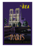 Be Paris and Notre Dame Cathedral Wall Decal by Daphne Padden