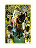 Aladdin's Procession Wall Decal by Walter Crane