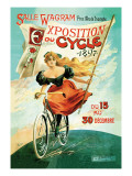 Bicycle Exhibition, c.1897 Wall Decal