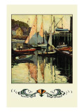Yacht Harbor Wall Decal by Anthony Thieme