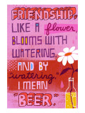 Friendship Blooms Like a Flower Wall Decal