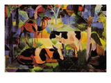 Landscape with Cows and Camels Wall Decal by Auguste Macke