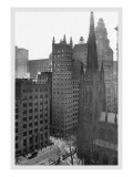 One Wall Street and Trinity Church, 1911 Wall Decal by Moses King