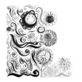Doodle in Black and White Wallstickers