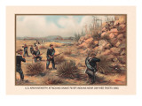 Infantry Attcking Snake River Indians near Owyhee River, 1880 Wall Decal by Arthur Wagner