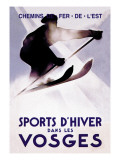 Sports d&#39;Hiver dans les Vosges Wall Decal by Lucien Serre