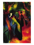 Sunny Way Wall Decal by Auguste Macke