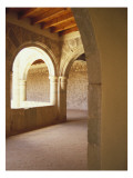 Colonnaded Covered Walkway Wall Decal