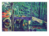 Bridge In The Forest Wall Decal by Paul Cézanne