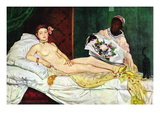 Olympia No.1 Wall Decal by douard Manet