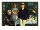 Luncheon Wall Decal by douard Manet