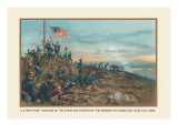 Hoisting of the Stars and Stripes on Cuban Soil, June 11, 1898 Wall Decal by  Werner