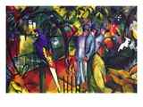 Zoological Gardens Wall Decal by Auguste Macke