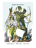 Egyptian War Uniforms: Egyptian Warrior, King and Driver Wall Decal