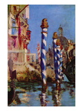 Grand Canal In Venice Wall Decal by Édouard Manet