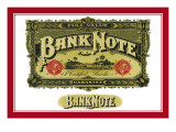 Bank Note Cigars, A Certified Smoke Wall Decal