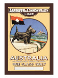 Aberdeen and Commonwealth Cruise Line to Australia Wall Decal