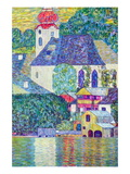 St. Wolfgang Church Wall Decal by Gustav Klimt