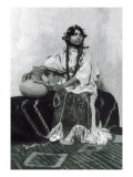Taos Woman Seated with Water Jug Wall Decal by Carl And Grace Moon