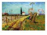 Path Through a Field with Willows Wall Decal by Vincent van Gogh