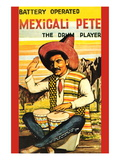 Battery Operated Mexicali Pete; The Drum Player Wall Decal