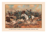 Cavalry Charge of the 5th Regulars, Gaines Mill 1862 Wall Decal by Arthur Wagner