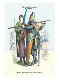 German Costumes: Squire and Knight in the First Crusade Wall Decal