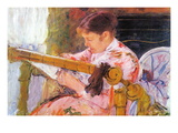 Lydia At The Cord Framework Wall Decal by Mary Cassatt