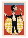 The Sax Jazz Dance Wallstickers