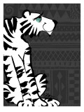 Retro Tiger Wall Decal