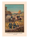 U.S. Army and General Officers 1813-1821 Wall Decal by Arthur Wagner
