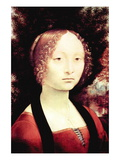 Portrait of a Dame Wall Decal by Leonardo da Vinci