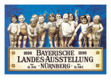 Bavarian National Exhibition Wall Decal by Richard Riemerschmid