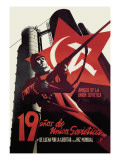 Nineteen Years of the Soviet Union and the Fight for Freedom and World Peace Wall Decal by Josep Renau Montoro