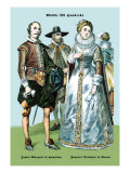 James Marquis of Hamilton and Francis Dutchess of Genoa Wall Decal by Richard Brown