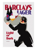 Barclay's Lager: Light or Dark Wall Decal by Tom Purvis