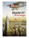 Braniff Airways - Manhattan, NY Autocollant par Kerne Erickson