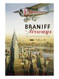 Braniff Airways, Manhattan, Nueva York Vinilo decorativo por Kerne Erickson
