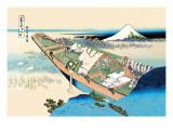 House Boat Wallstickers af Katsushika Hokusai