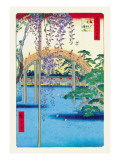 Grounds of the Kameido Tenjin Shrine Autocollant mural par Ando Hiroshige