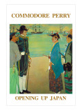 Commodore Perry Opening Up Japan, Giclee Print