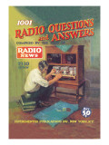 1001 Radio Questions and Answers Wall Decal