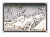 Evening Snow in Asakusa Wall Decal by Ando Hiroshige