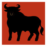 Black Bull Wall Decal