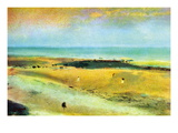 Beach At Low Tide Wall Decal by Edgar Degas